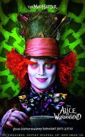 Teaser Trailer and Posters for Tim Burton's Alice in Wonderland to Be Released March 5 2010