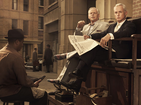 Bert Cooper and Roger Sterling