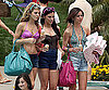 Photo Slide of AnnaLynne McCord, Jessica Stroup, and Jessica Lowndes Filming 90210 in LA