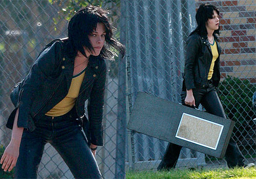 Photos of Kristen Stewart Filming The Runaways 2009-06-25 11:30:34