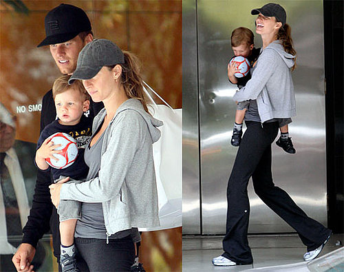 """Adoptive Mother"" Gisele Shops With Her Sports Guys"