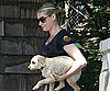 Photo Slide of Rebecca Romijn with a Dog in LA