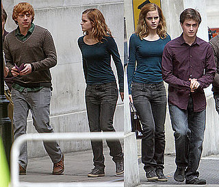 Photos of Emma Watson, Daniel Radcliffe, Rupert Grint on the Set of Harry Potter and the Deathly Hallows in London