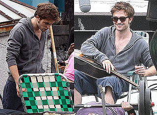 Photos of Robert Pattinson on the Set of Remember Me With a Guitar Case