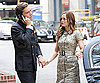 Slide Photo of Ed Westwick and Leighton Meester Holding Hands on the Set of Gossip Girl in NYC