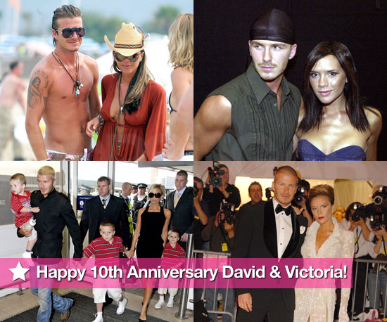 Photos of Victoria Beckham, David Beckham Through the Years in Celebration of Their Tenth Anniversary