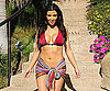 Photo Slide of Kim Kardashian at a Barbecue in Malibu