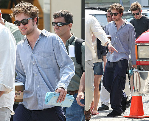 Photos of Robert Pattinson and Emilie de Ravin on the Set of Remember Me in NYC