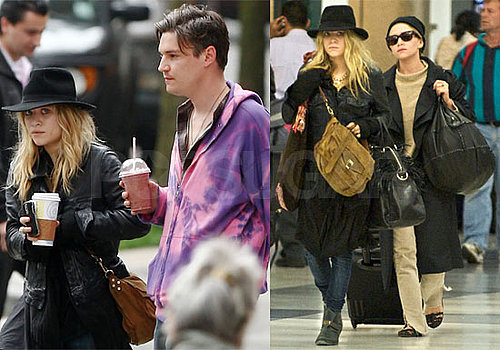 Photos of Mary-Kate and Ashley Olsen and Nate Lowman in NY and LAX