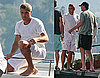 Photos of George Clooney on a Boat in Lake Como