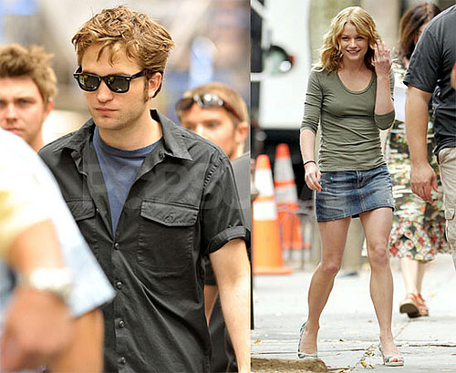 Photos of Robert Pattinson and Emilie de Ravin on the Set of Remember Me