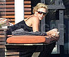 Photo Slide of Charlize Theron Relaxing in Malibu