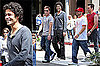 Photos of Adrian Grenier, Jerry Ferrara, Kevin Dillon the Set of Entourage