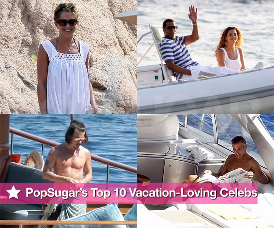 PopSugar's Top 10 Vacation-Loving Celebs