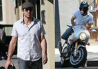 Photos of Ryan Reynolds on Motorcycle