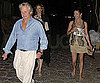 Photo Slide of Michael Douglas and Catherine Zeta-Jones Walking Home From Dinner in Spain