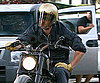 Photo Slide of Brad Pitt on His Motorcycle