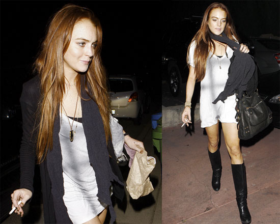 Photos of Lindsay Lohan in White and Black
