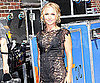 Slide Photo of Hayden Panettiere Wearing a Little Black Dress at the Late show With David Letterman