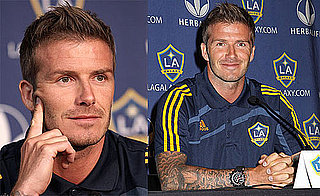 Photos of David Beckham at a Galaxy Press Conference in Hoboken