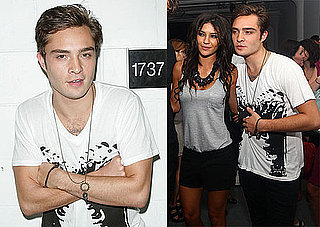 Photos of Ed Westwick and Jessica Szhor at an Art Party in NYC