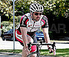 Photo Slide of Patrick Dempsey Riding His Bicycle in LA