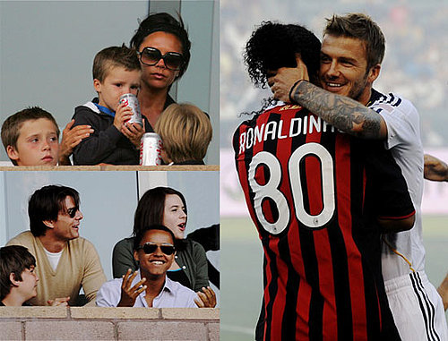Photos of David Beckham, Romeo Beckham, Victoria Beckham in LA