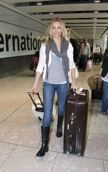 Photos of Cameron Diaz at Heathrow