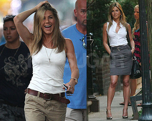 Photos of Emmy-Nominated Jennifer Aniston Filming The Bounty in NYC