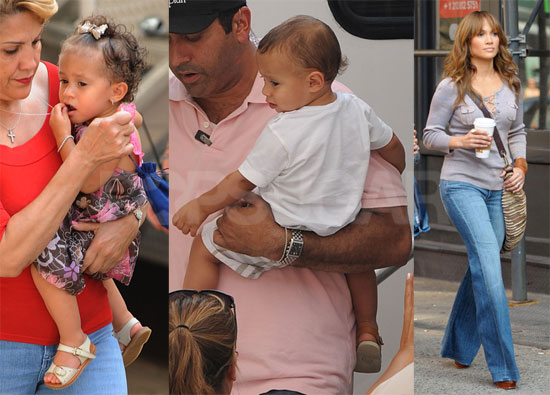 Photos of Jennifer Lopez and Babies on Set