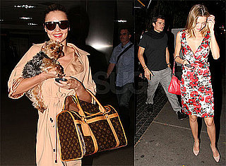 Photos of Miranda Kerr in LA With Her Dog Frankie, With Orlando Bloom at Bar Marmont