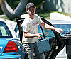 Photo Slide of Shia LaBeouf Getting Out of a Taxi in LA