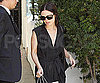 Slide Photo of Rachel Bilson Wearing Black to Business Meeting in LA