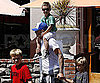 Slide Photo of David Beckham and His Sons Shopping in LA