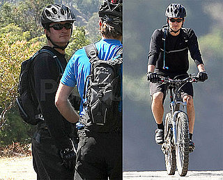 Photos of Orlando Bloom Mountain Biking in the Hollywood Hills