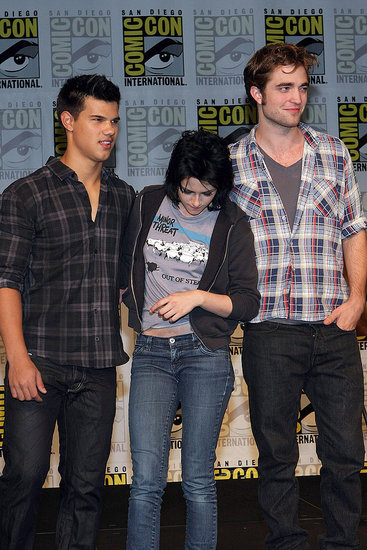 Photos of Robert Pattinson, Taylor Lautner, and Kristen Stewart at Comic Con