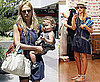 Photos of Jessica Alba With Daughter Honor Warren Getting Lunch at LA&#039;s Newsroom Cafe