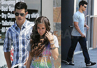 Photos of Taylor Lautner Leaving Chipotle in LA With His Friend