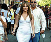 Photo Slide of Jennifer Lopez in White Filming The Back-Up Plan in NYC