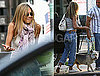 Photos of Jennifer Aniston on The NYC Set of The Bounty With Her Dog Norman