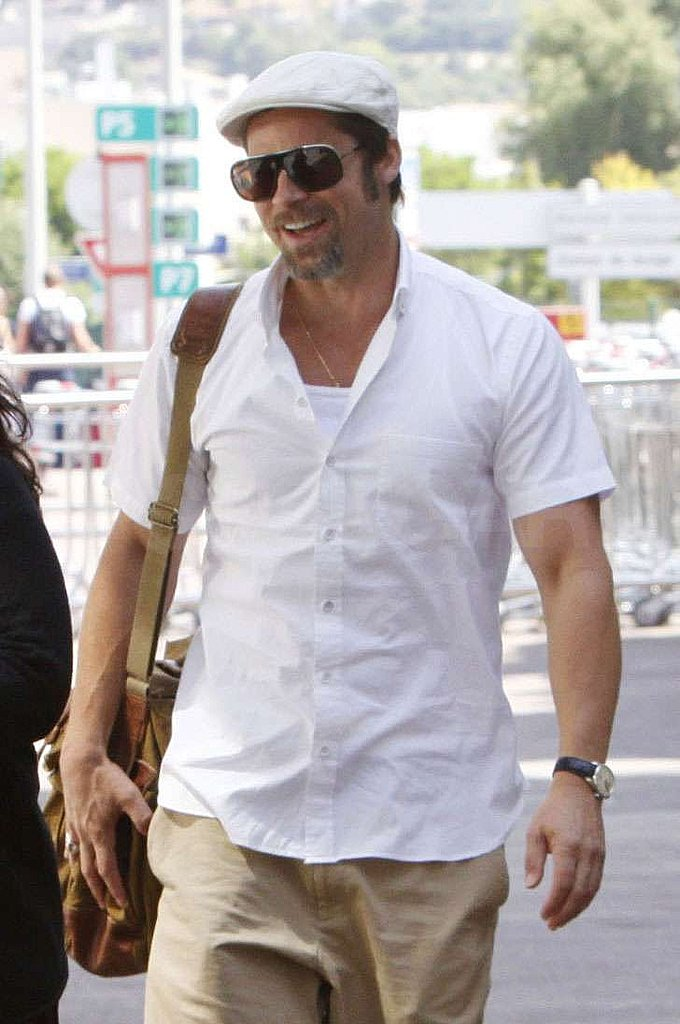 Photos of Brad Pitt in France