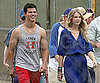 Photo Slide of Taylor Lautner and Taylor Swift on the LA Set of Valentine's Day