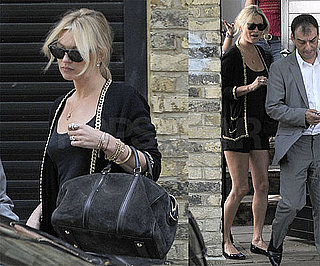 Photos of Kate Moss Leaving Her London Home For a Meeting at the Topshop Offices