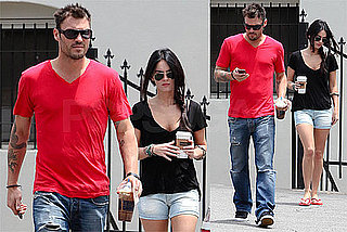 Photos of Megan Fox, Brian Austin Green Getting Coffee in LA