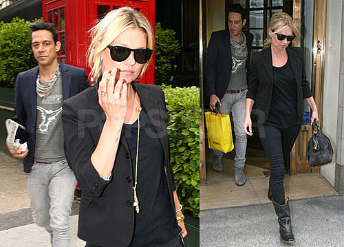 Photos of Kate Moss and Jamie Hince Leaving Lunch in London