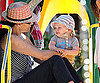 Slide Photo of Minnie and Henry Driver Playing in a Malibu Park