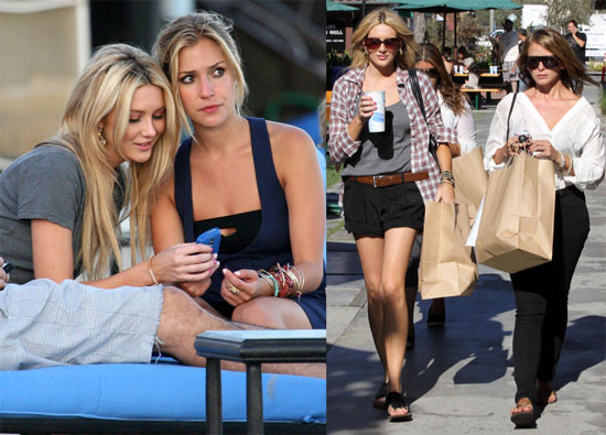 Photos of The Hills Girls Filiming in Malibu
