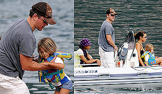 Photos of Matt Damon, Isabella Damon, Luciana Damon, Alexia Barroso at Lake Como