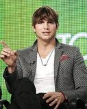 Photos of Ashlee Simpson and Ashton Kutcher at the CW TCA Event