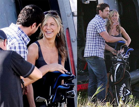 Photos of Jennifer Aniston on Set